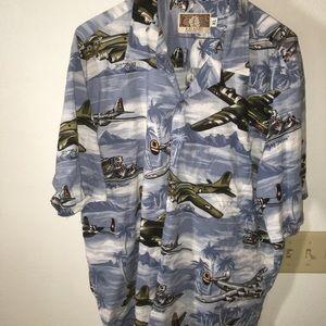 Aviation themed Hawaiian shirt